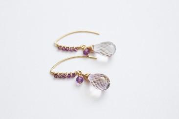wings,earrings,sterling earrings,unique jewelry,charoite,amethyst Butterfly regina marie,handcrafted jewelry,beaded etsymetal team
